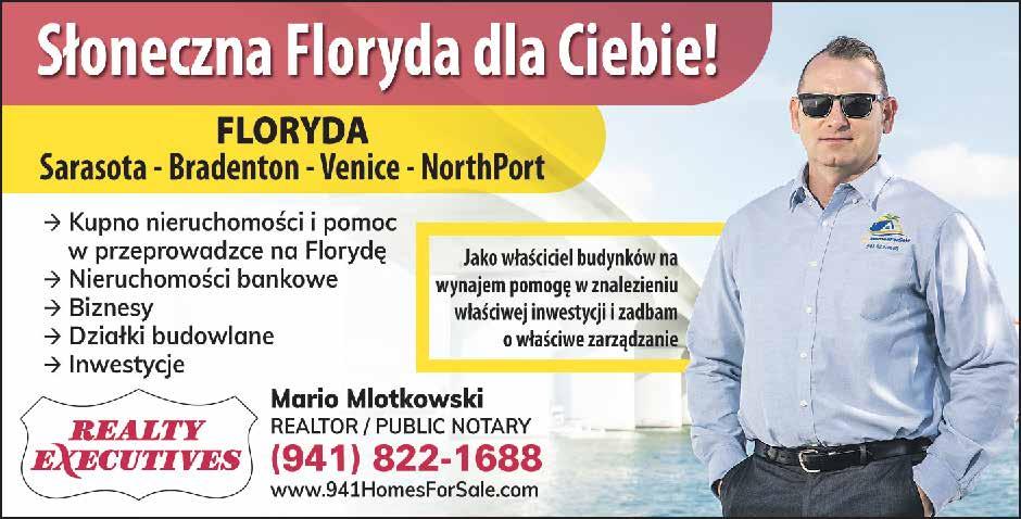 Mario Mlotkowski – Realtor & Notary Public 1440 First Str., Sarasota, FL 34236 Polish Realtor - Sarasota, Bradenton, Venice, North Port, Florida