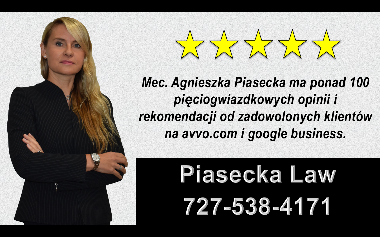 Polski, Prawnik, Adwokat, Sarasota, Bradenton, Floryda, USA, Agnieszka, Aga, Piasecka