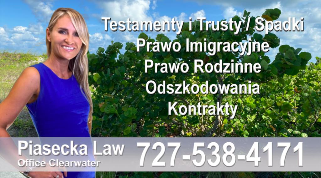 Sarasota, North Port, Englewood, Laurel, Nokomis, Osprey, Venice -Polscy-Adwokaci-Polski adwokat prawnik Floryda Testamenty Trusty Spadki Prawo Imigracyjne Rodzinne Odszkodowania Kontrakty Wypadki