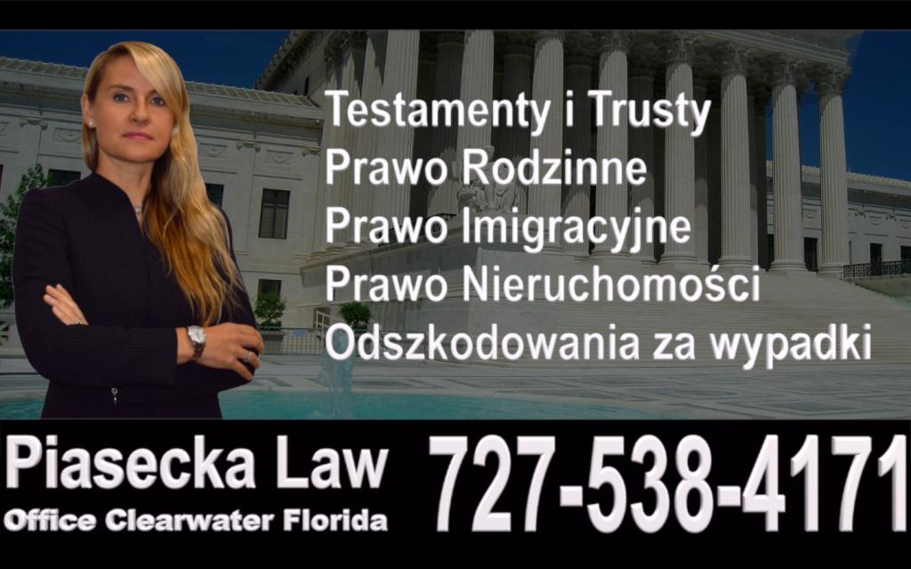 Sarasota, Bradenton, Polski, Prawnik, Adwokat, Floryda, USA, Polish, Attorney, Lawyer, Florida, Agnieszka Piasecka, Aga Piasecka, Piasecka