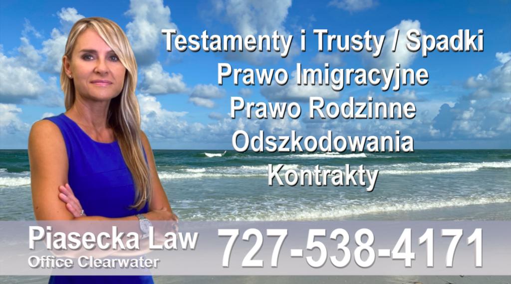 Sarasota, North Port, Englewood, Laurel, Nokomis, Osprey, Venice, Polski adwokat prawnik Floryda Testamenty Trusty Spadki Prawo Imigracyjne Rodzinne Odszkodowania Kontrakty Wypadki na Florydzie